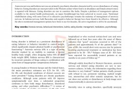 011 Research Paper Free Papers On Eating Disorders Wondrous