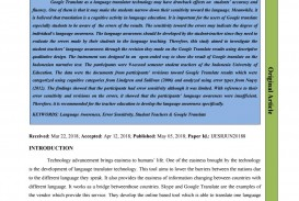 011 Research Paper Google Translate Papers Page 1 Fascinating