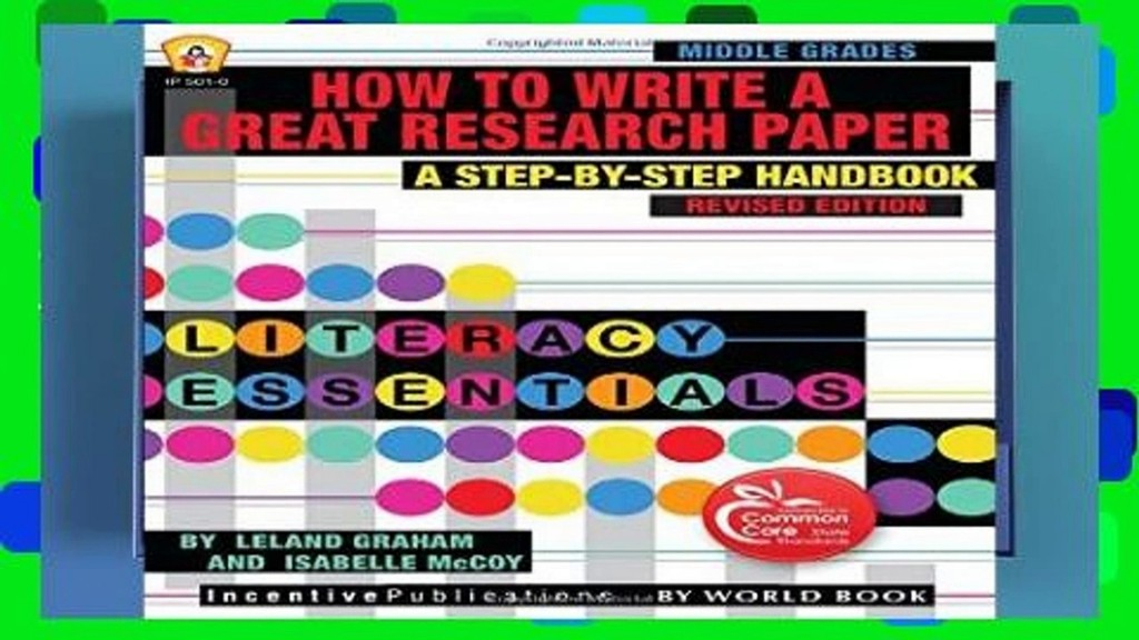 011 Research Paper How To Write Great Book X1080 Best A Good On Large