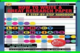 011 Research Paper How To Write Great Book X1080 Best A Good On