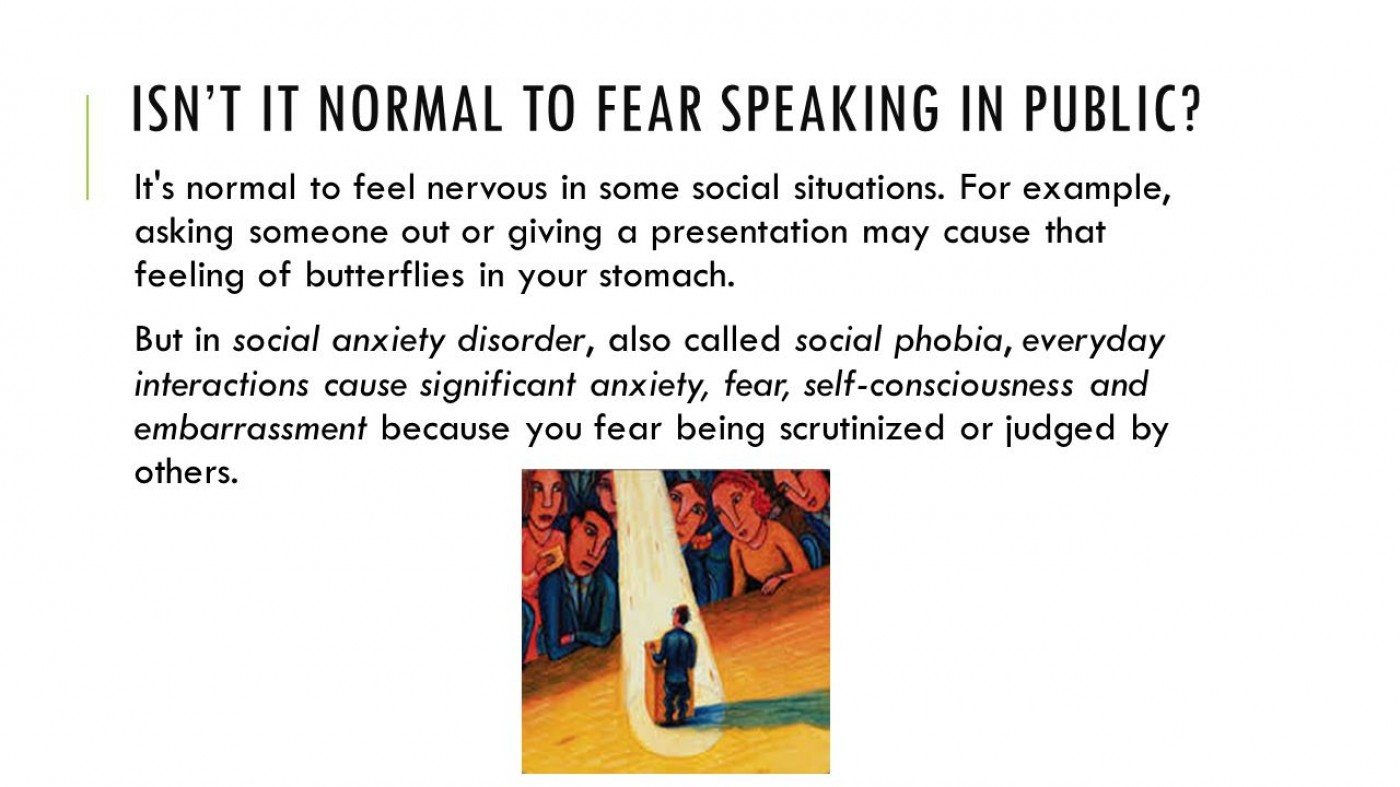 011 Research Paper Isne28099titnormaltofearspeakinginpublic Anxiety Staggering Example 1400