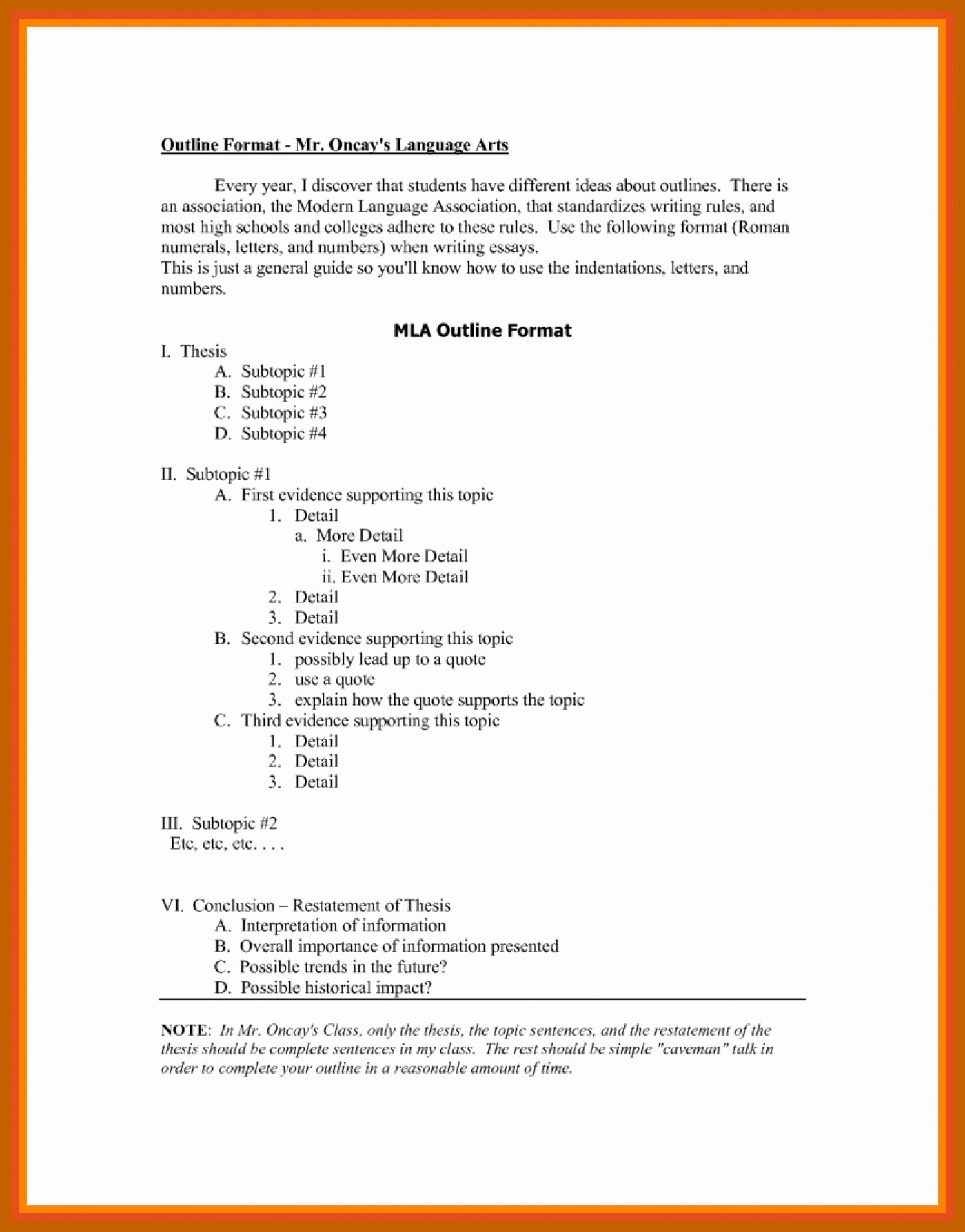 011 Research Paper Mla Style Format Best Of Outline Unbelievable 8 1400