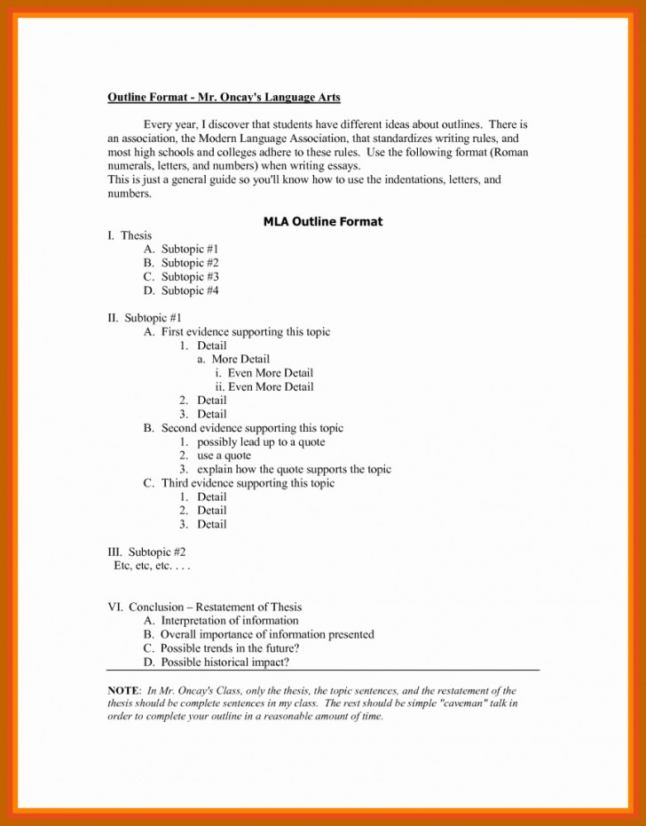 011 Research Paper Mla Style Format Best Of Outline Unbelievable 8 728