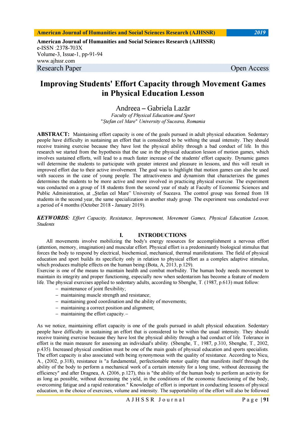 011 Research Paper Page 1 Physical Education Imposing Papers Title Rubric Thesis Pdf Full