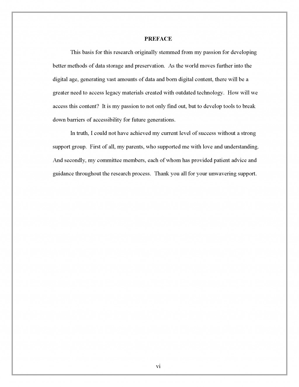 011 Research Paper Preface Border How To Write Thesis For Fantastic A History Large