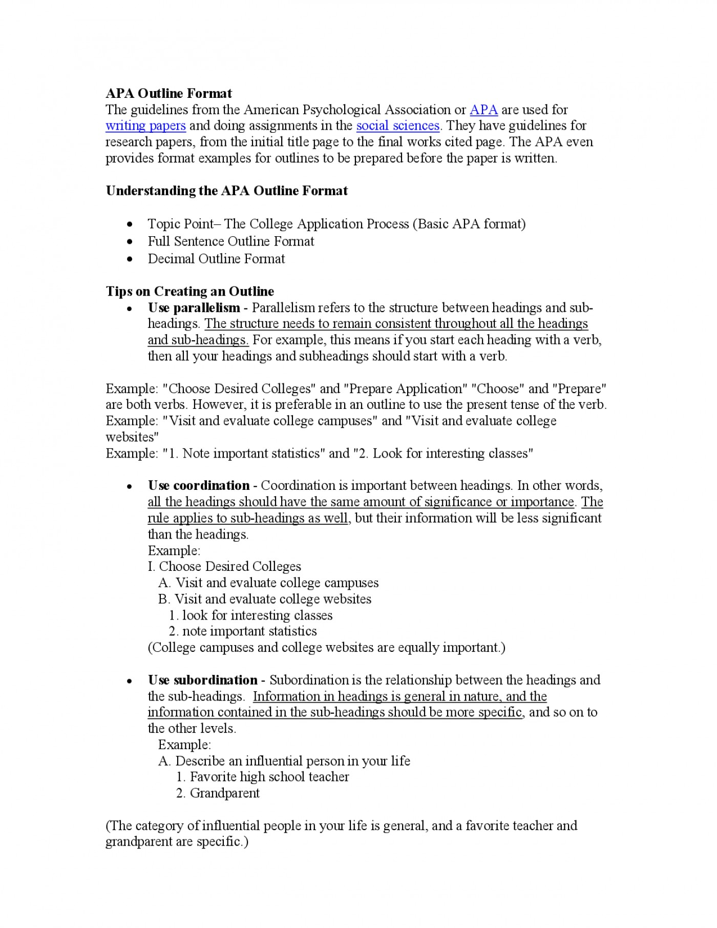 011 Research Paper Psychology College Outline Rare 1400