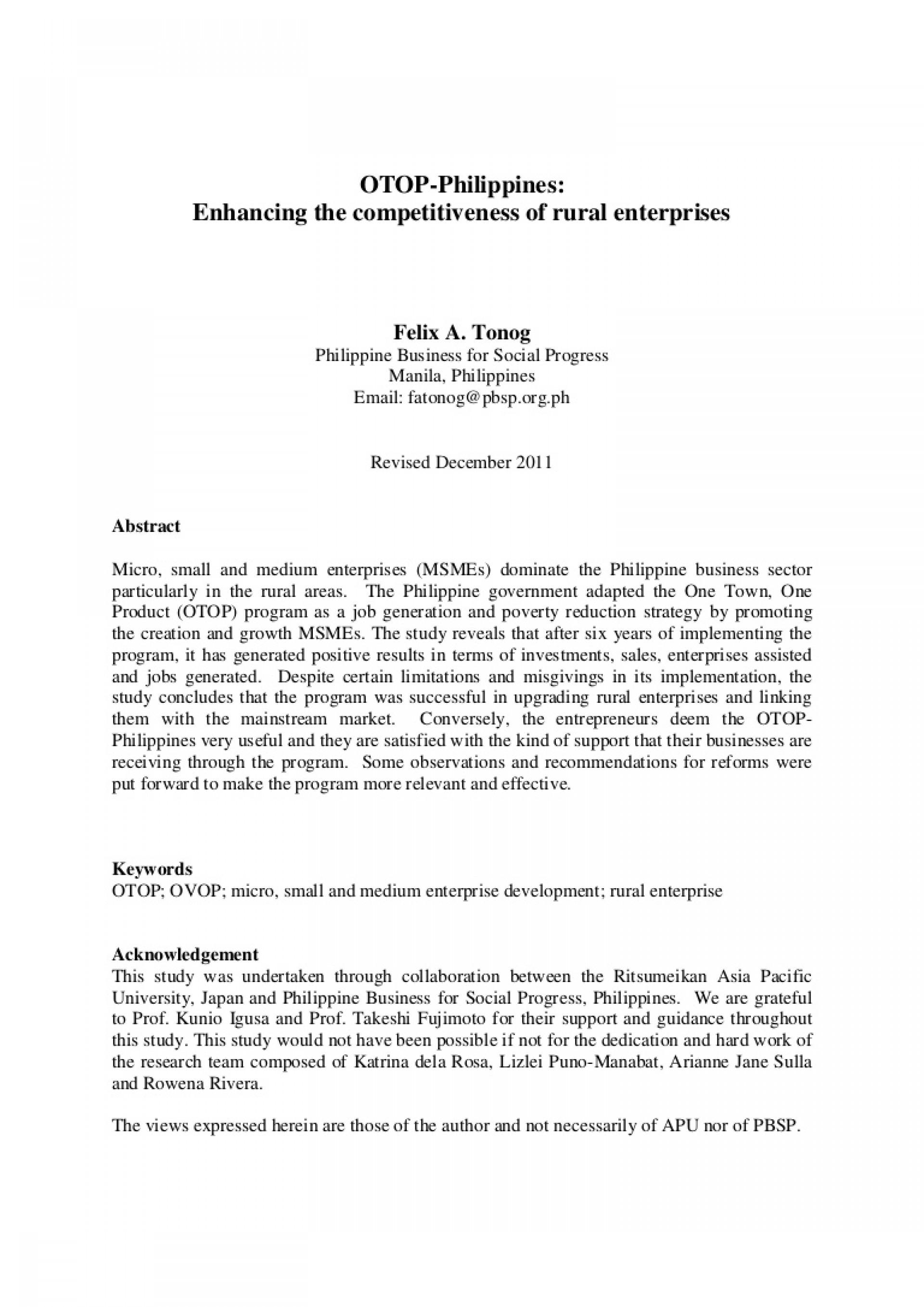 011 Research Paper Theotop Philippines2011a4 Phpapp02 Thumbnail Poverty In The Philippines Remarkable Abstract 1920