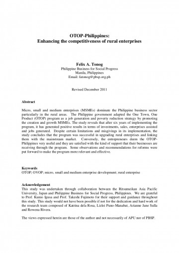 011 Research Paper Theotop Philippines2011a4 Phpapp02 Thumbnail Poverty In The Philippines Remarkable Abstract 360