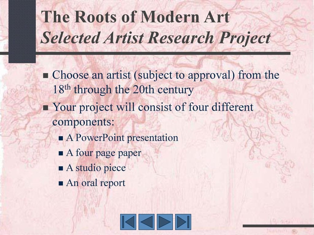 011 Research Paper Therootsofmodernartselectedartistresearchproject Component Of Wondrous Ppt Parts Chapter 1 Large