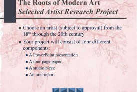 011 Research Paper Therootsofmodernartselectedartistresearchproject Component Of Wondrous Ppt Parts Chapter 1