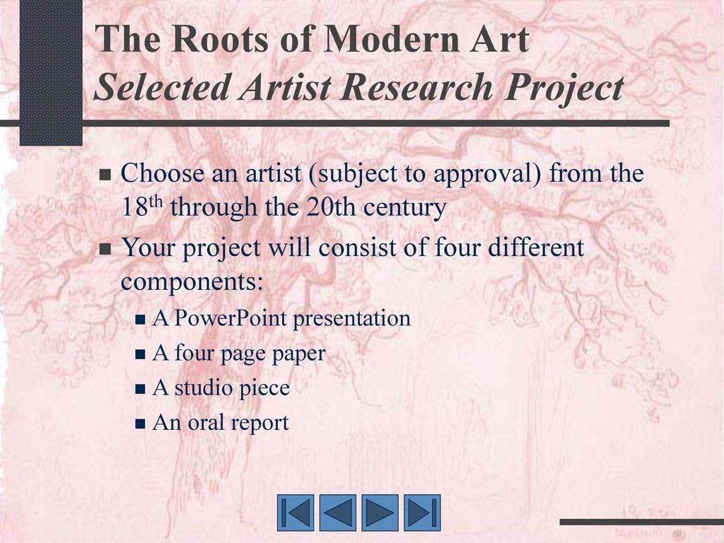 011 Research Paper Therootsofmodernartselectedartistresearchproject Component Of Wondrous Ppt Parts Chapter 1 Full