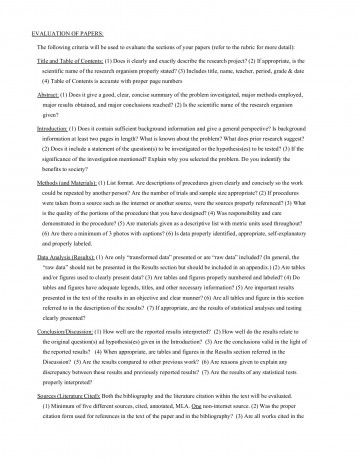 011 Science Fair Research Stunning Paper Example High School Middle 360