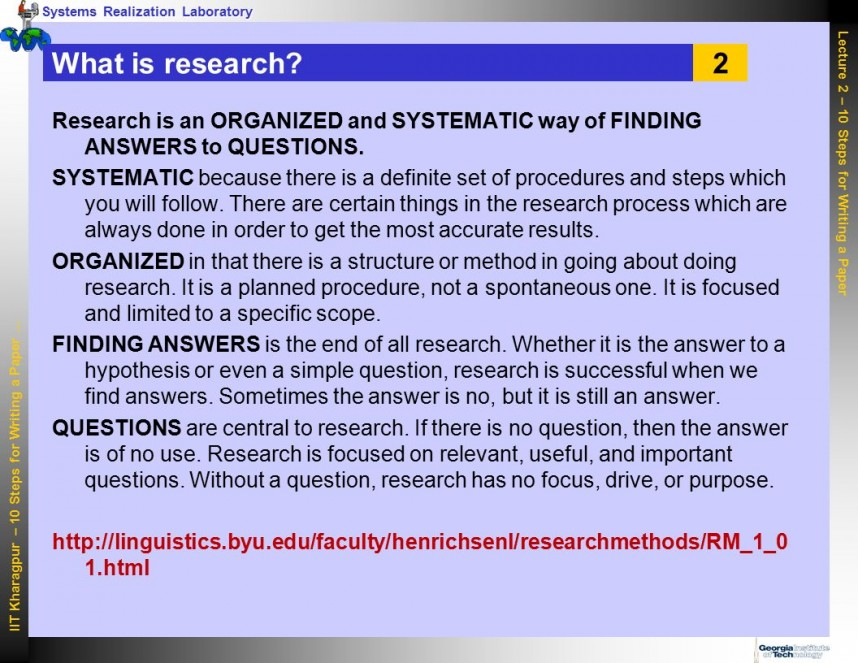 011 Steps For Writing Research Paper Slide 2 Unforgettable 10 A In The Markman Pdf To Write Basic