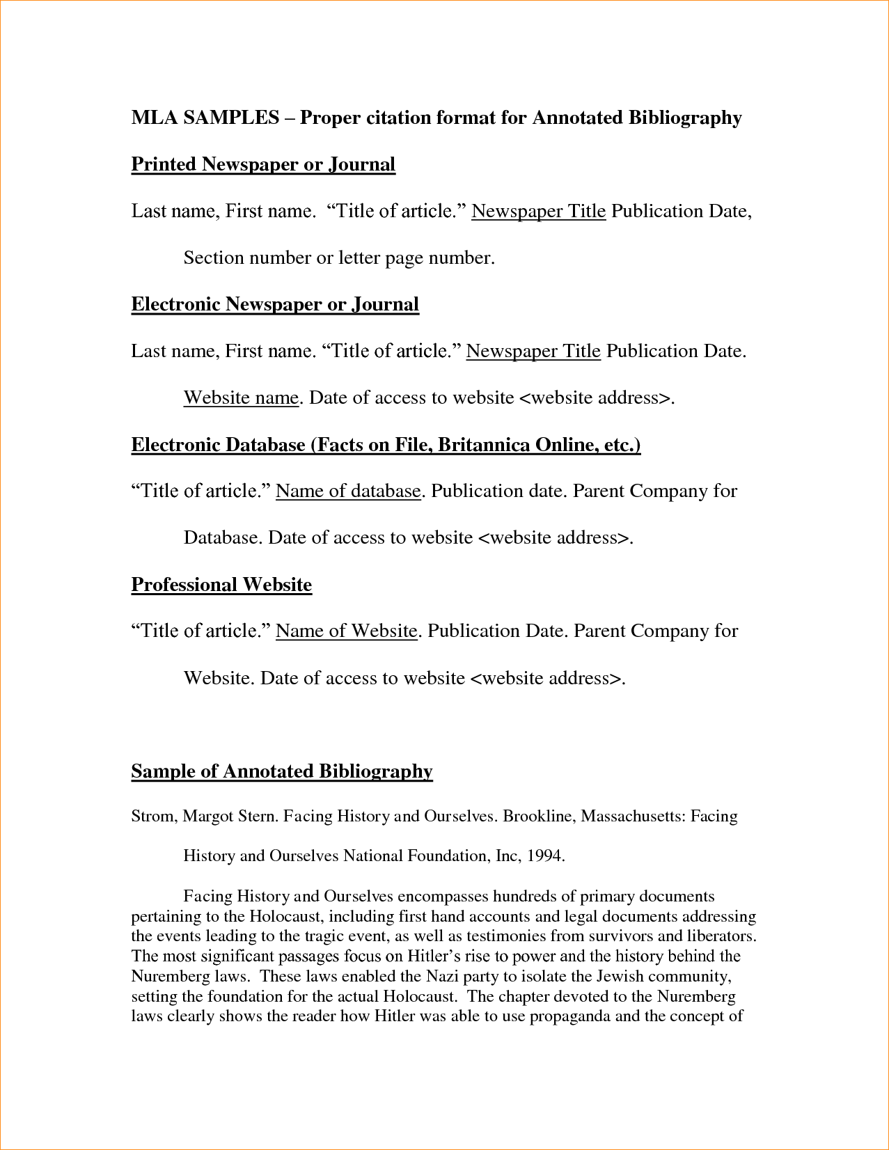 Anxiety disorder research paper outline