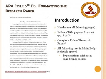 012 Apa Format For Research Paper 6th Edition Apastyle6thed Unique Example Style Template 360