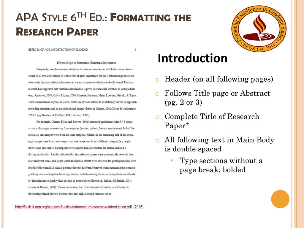 012 Apa Format For Research Paper 6th Edition Apastyle6thed Unique Style Example Full