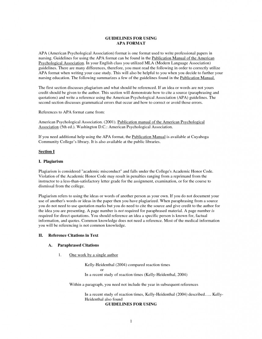 012 Apa Format Sample Research Paper Doc Brilliant Ideas Of Example How To Cite Using In Fancy Awful