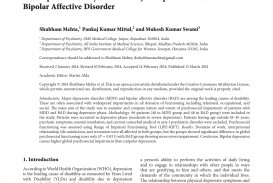 012 Bipolar Disorder Research Paper Rare Introduction