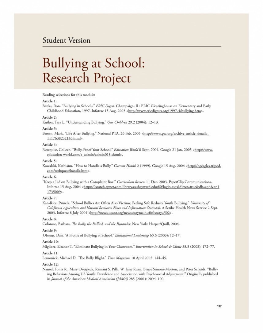 012 Bullying Research Paper Topics Violence In20hools Essay Causes20hool Conclusion Jamaican20 Impressive Cyber