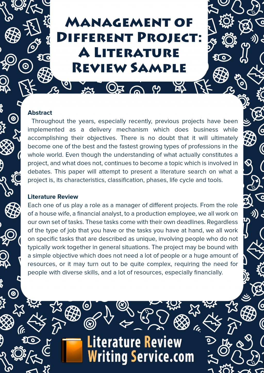 012 Business Literature Review Example Sample Research Paper Easy Topics Surprising About Large
