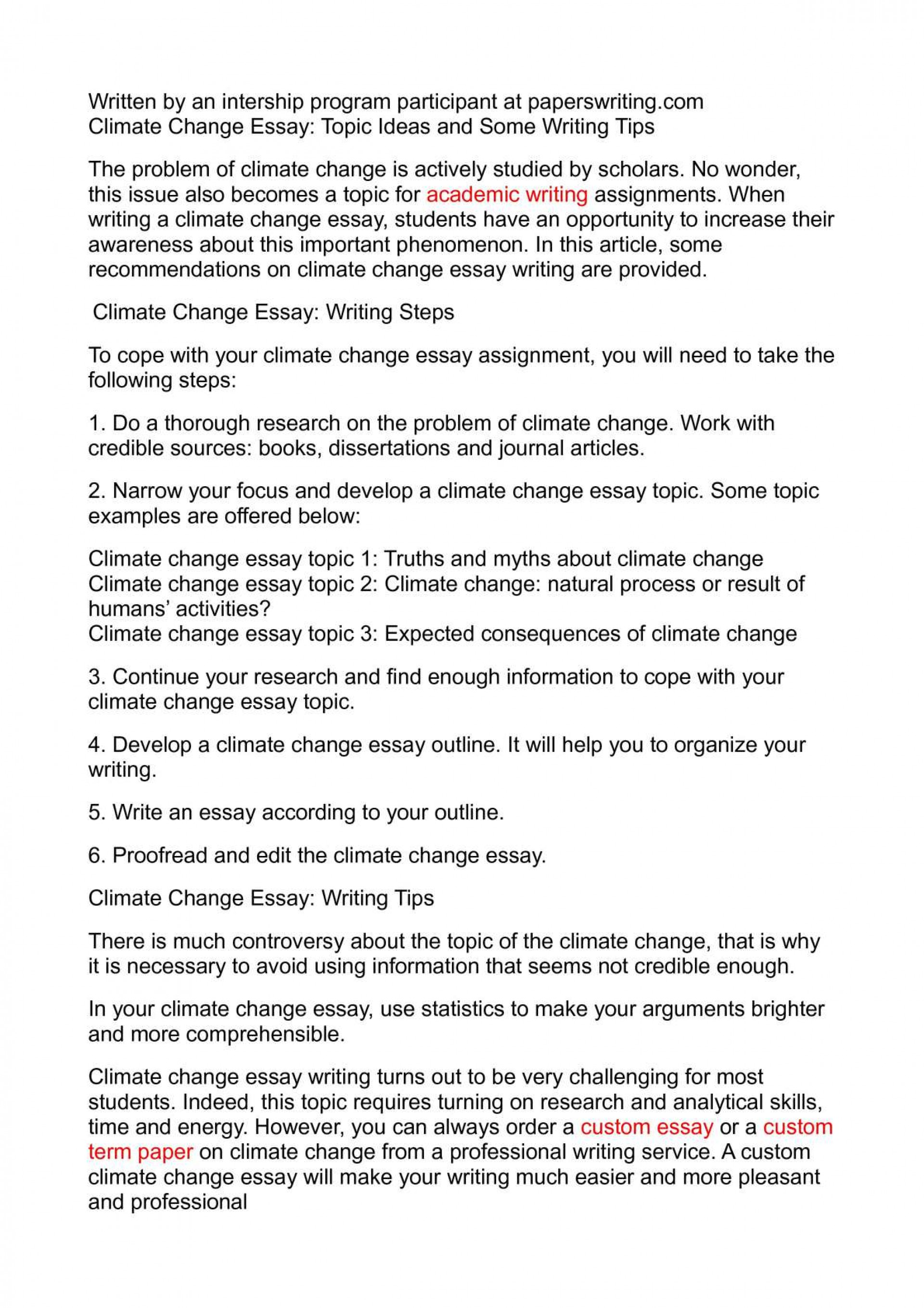 012 Climate Change Essay Topics Uncategorized Global Warming Topic Ways To St Oracleboss Research Paper20 Paper Unusual Ideas For High School Good 1920