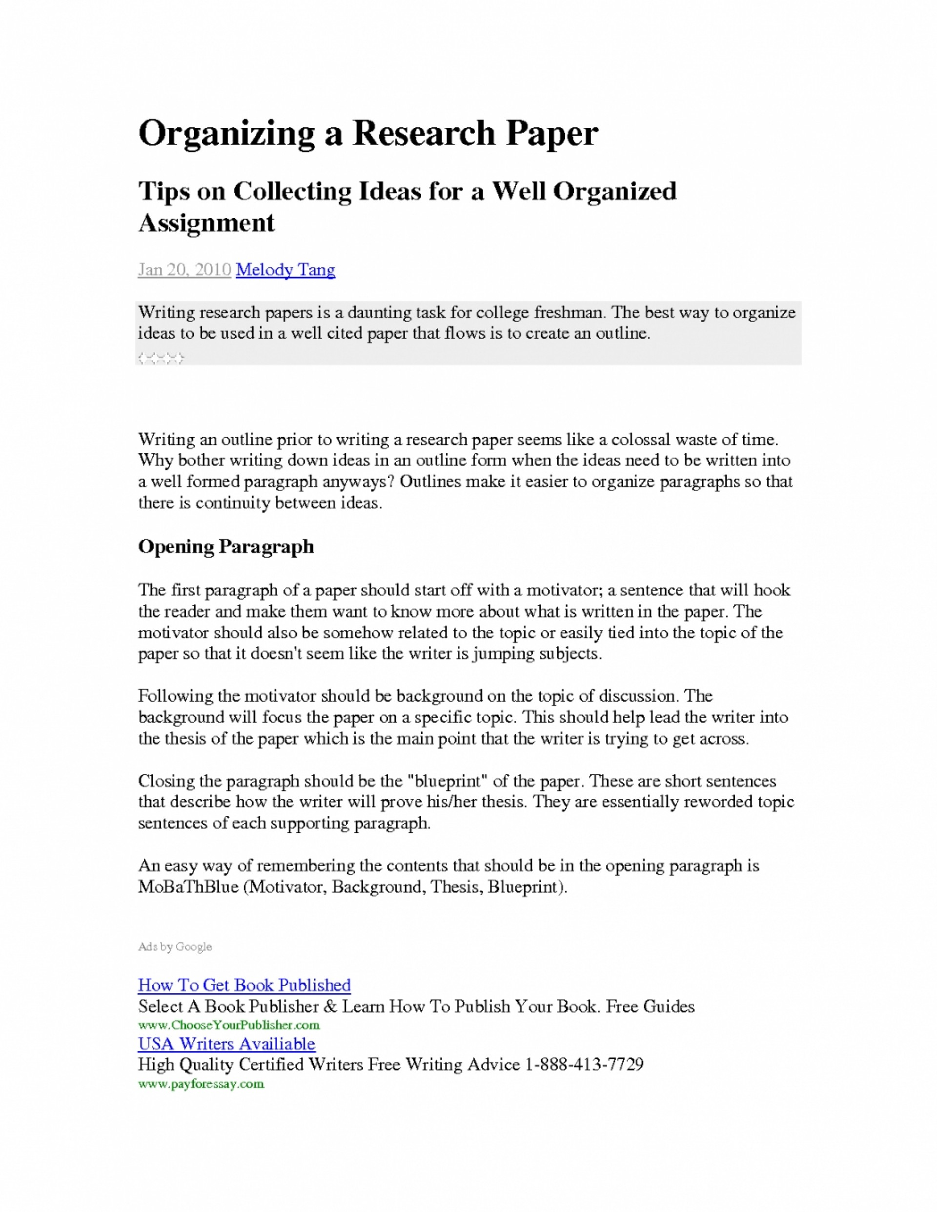 012 Conclusion Paragraph Of Thesis Essay Beautiful Starting Research Pertaining To Examples Fors How Start Frightening Paper Your First Body In A 1920