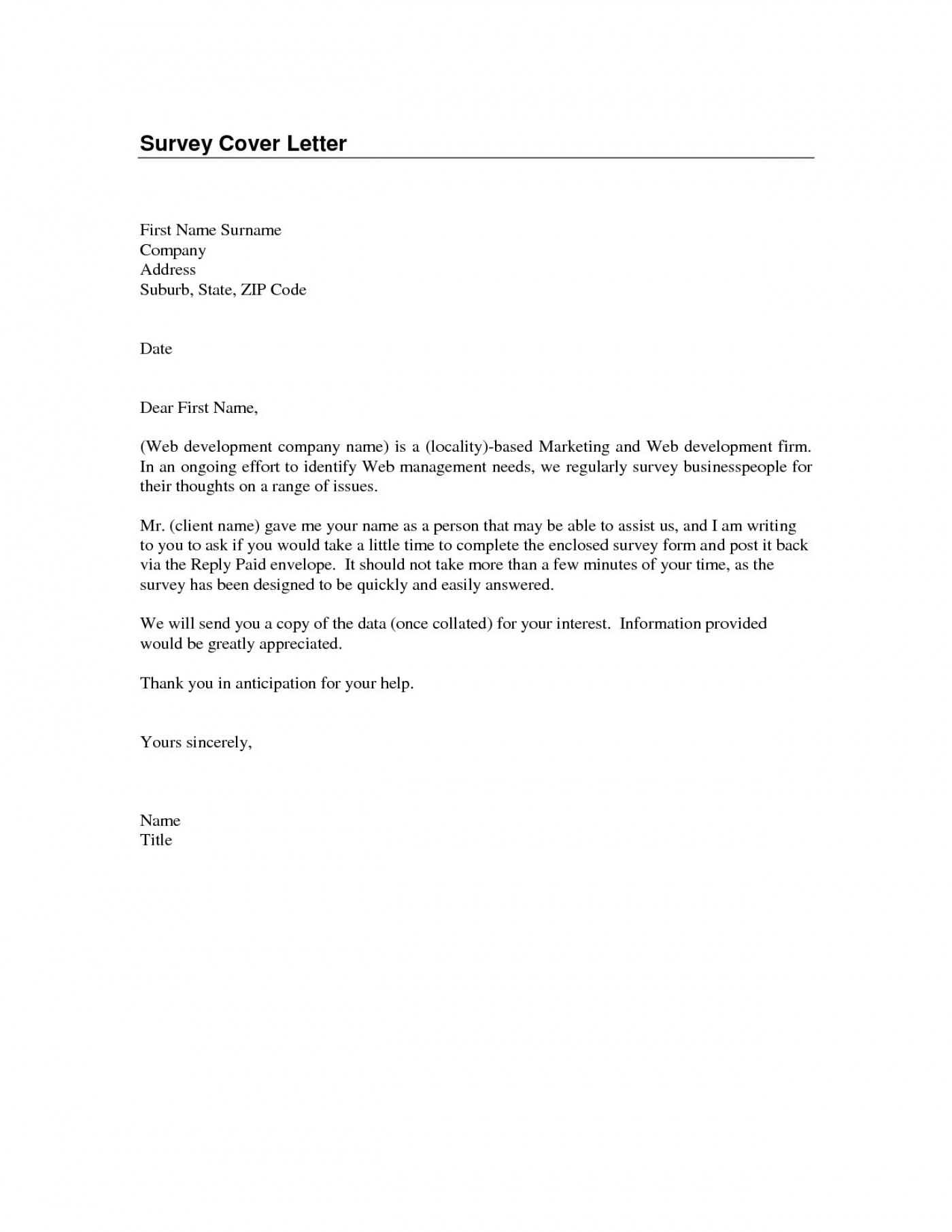 008 Cover Letter For Research Paper Questionnaire Essay ...
