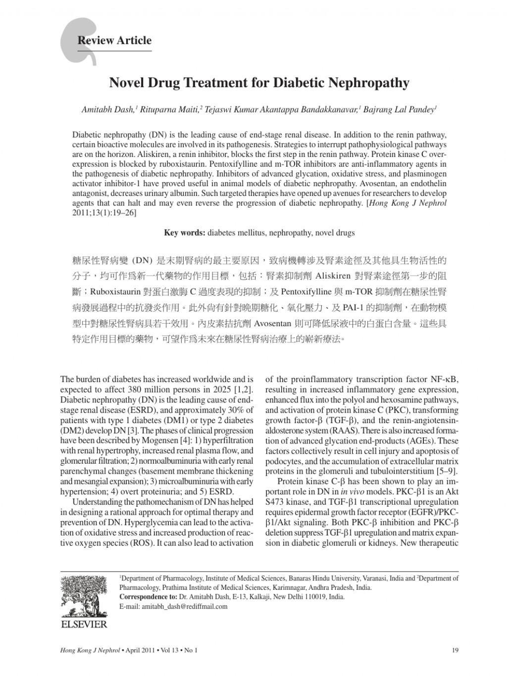 012 Diabetic Nephropathy Researchs Singular Research Papers Large