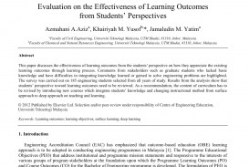 012 Effectiveness Of Online Education Research Paper Amazing