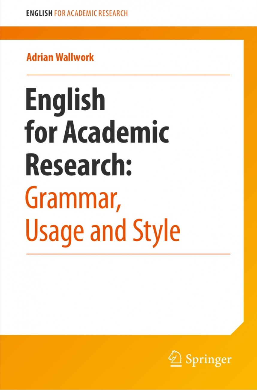 012 Englishforacademicresearchgrammarusageandstyle Thumbnail Research Paper English For Writing Papers Adrian Wallwork Marvelous Pdf 2011