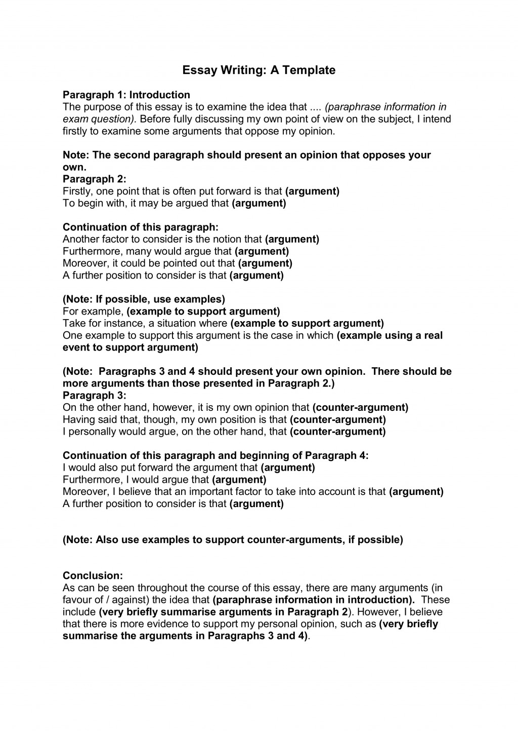 012 Essay Writing Template For Part 2cbu003d Research Paper Order Striking Papers Large