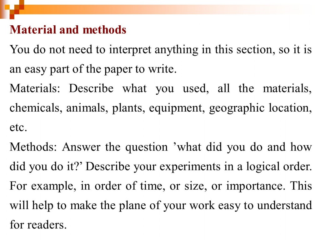 012 Example Of Materials And Methods Section Research Paper Wonderful A Large