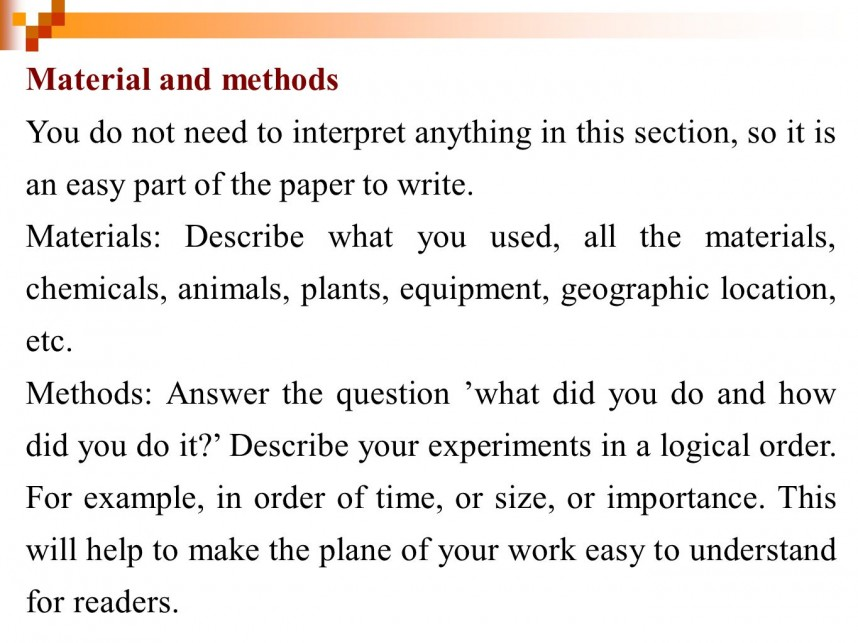 012 Example Of Materials And Methods Section Research Paper Wonderful A