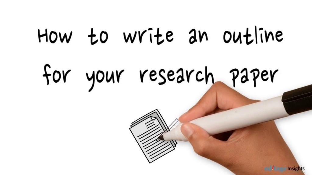 012 Example Of Science Fair Research Paper Outline Amazing A Large