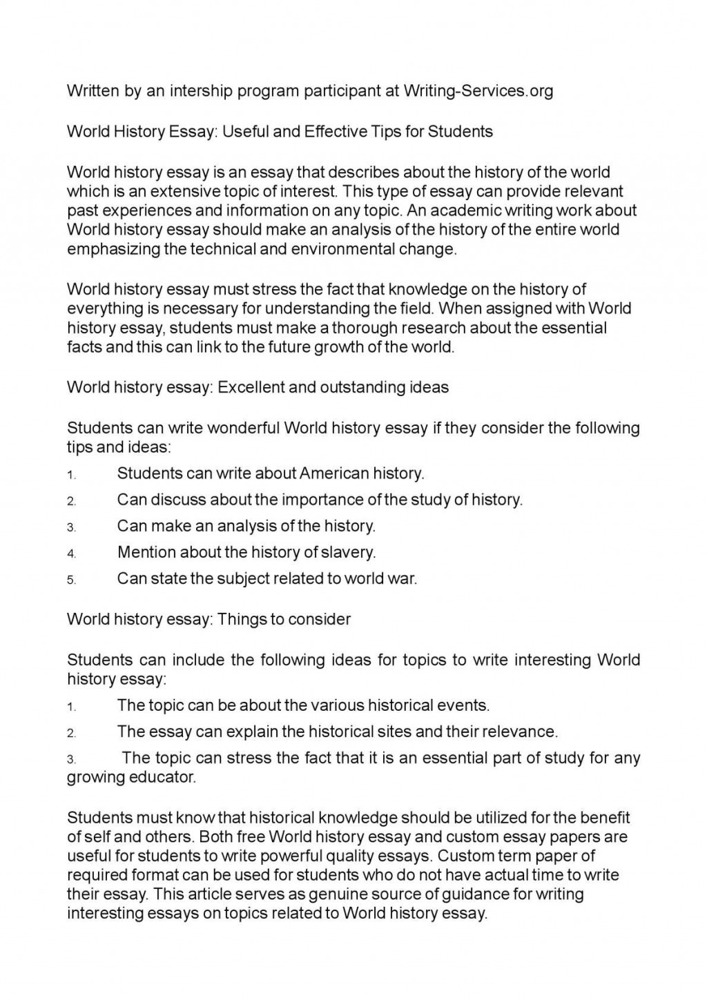 012 Good Topics For World History Researchs P1 Impressive Research Papers Large
