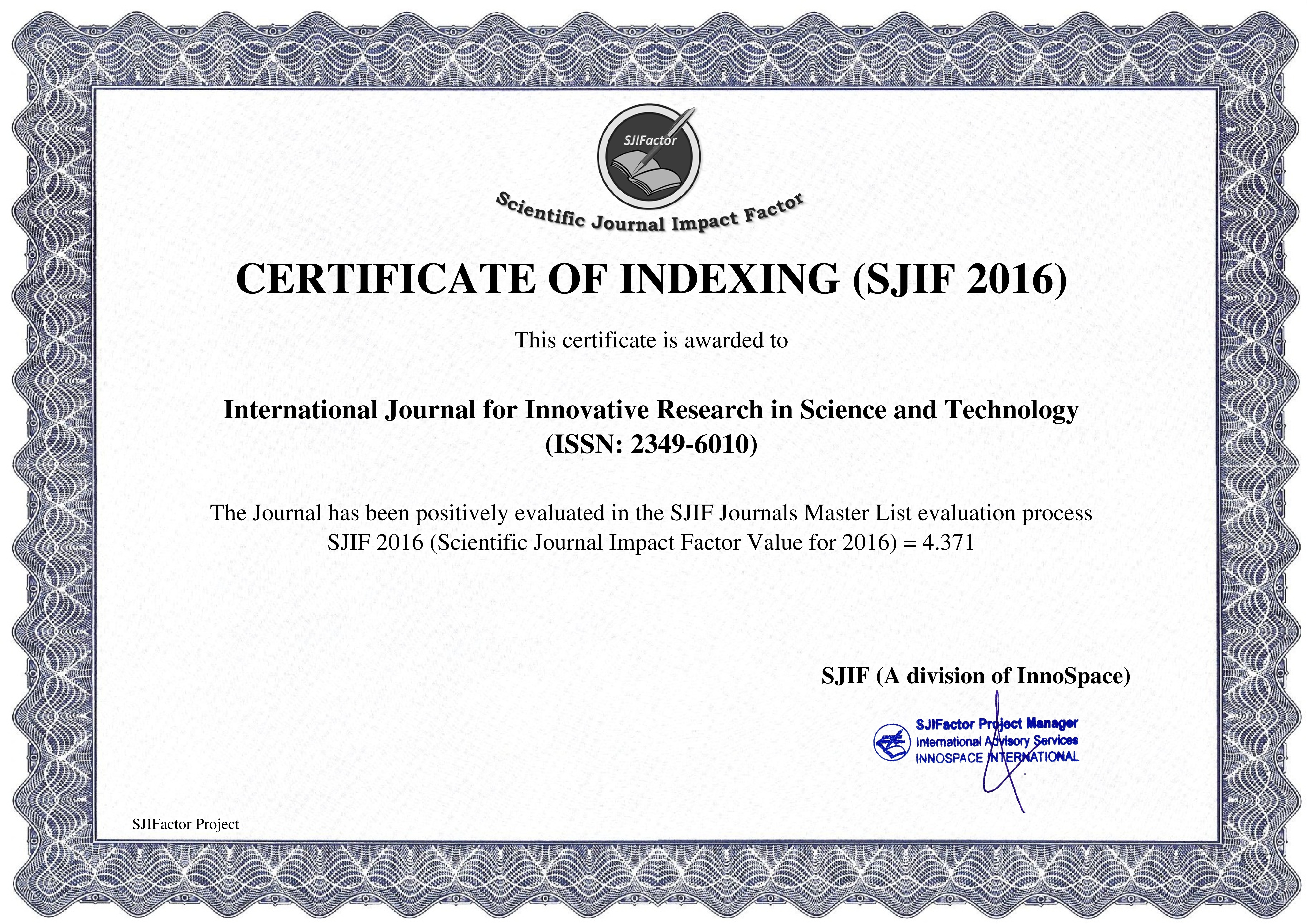 012 Impact Factor Research Paper How To Publish In International Journal Free Unusual Pdf Full