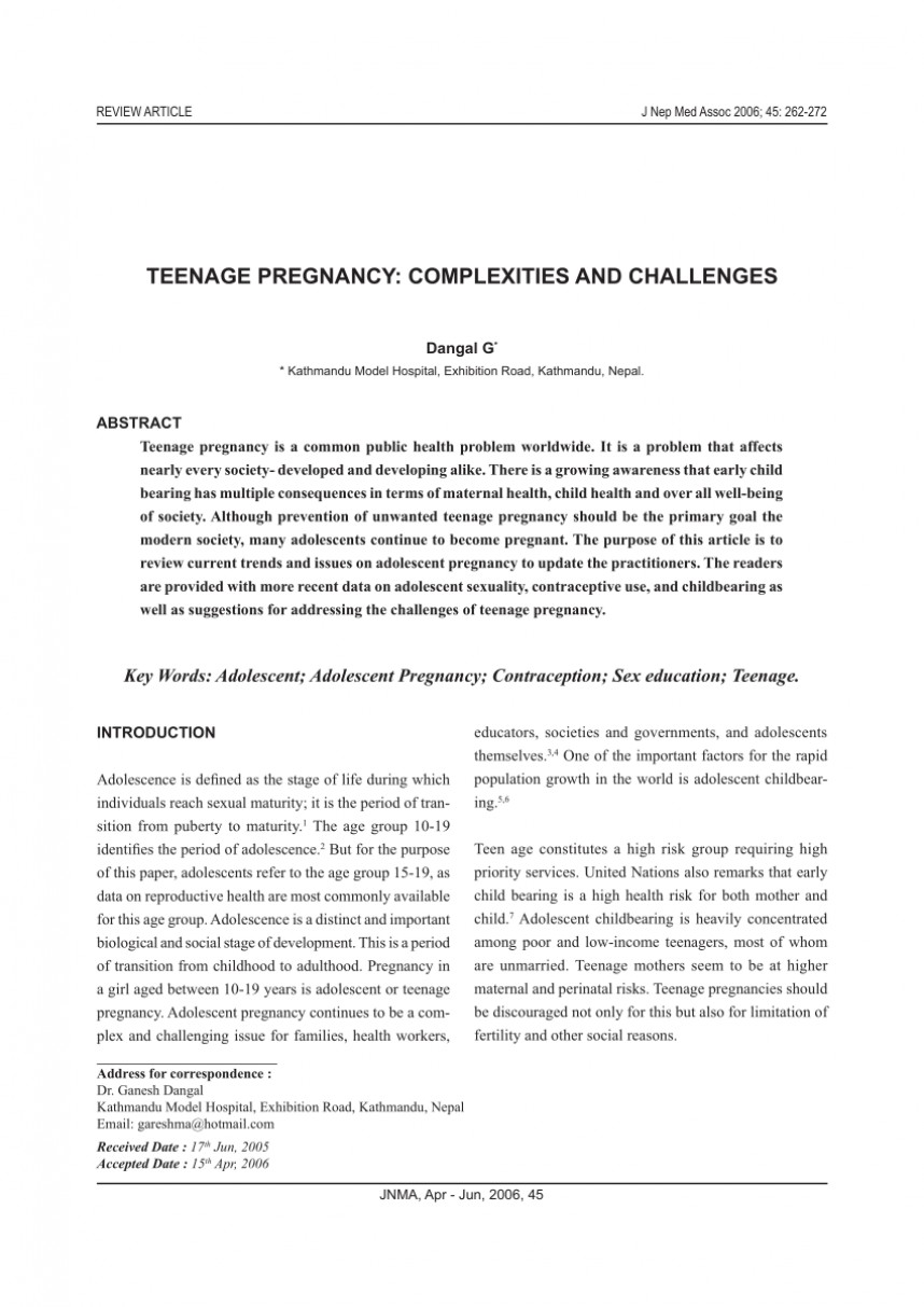 012 Largepreview Conclusion For Research Paper On Teenage Stupendous Pregnancy