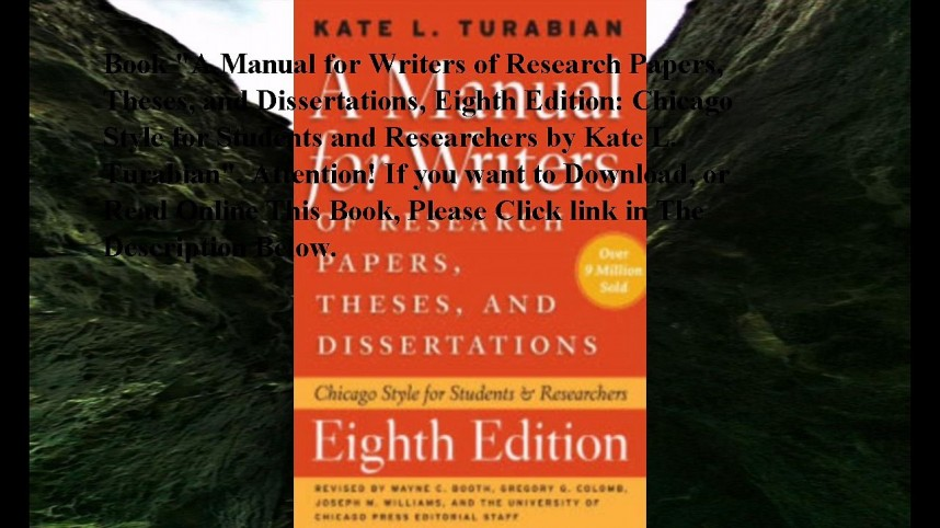 012 Manual For Writers Of Research Papers Theses And Dissertations Paper X720 Fearsome A Ed 8