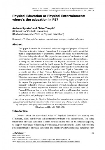 012 Physical Education Researchs Largepreview Imposing Research Papers Paper Title Rubric Thesis Pdf 360