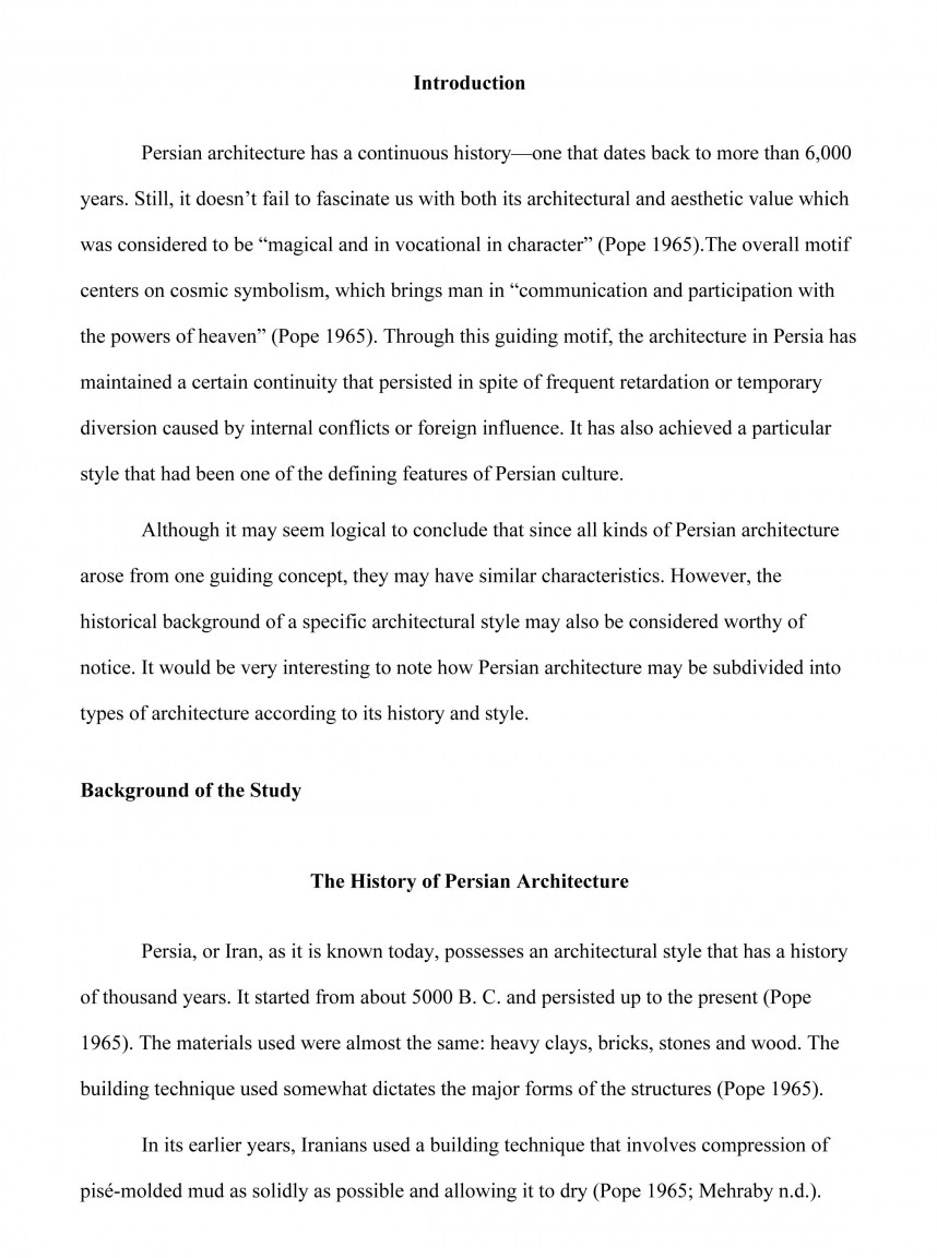 012 Research Paper Unique Background Paragraph Example For Science Fair