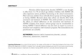 012 Research Paper Adhd Abstract Amazing