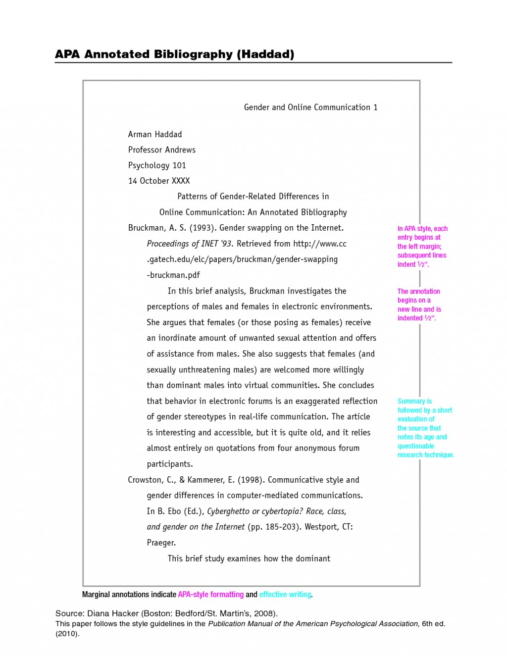 012 Research Paper Apa Citation Style Format Shocking Model Large