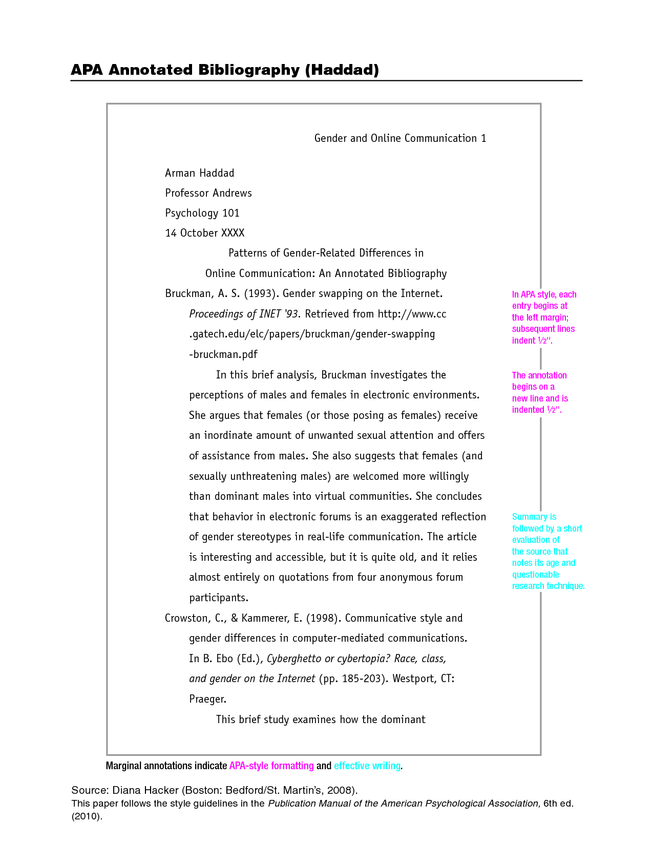 012 Research Paper Apa Citation Style Format Shocking Model Full