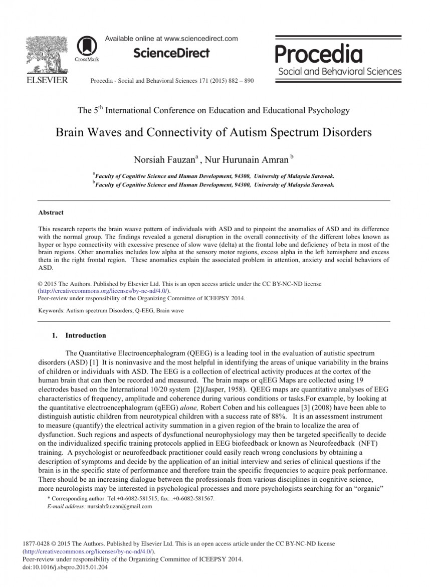 012 Research Paper Autism Spectrum Disorder Papers Awesome Topics