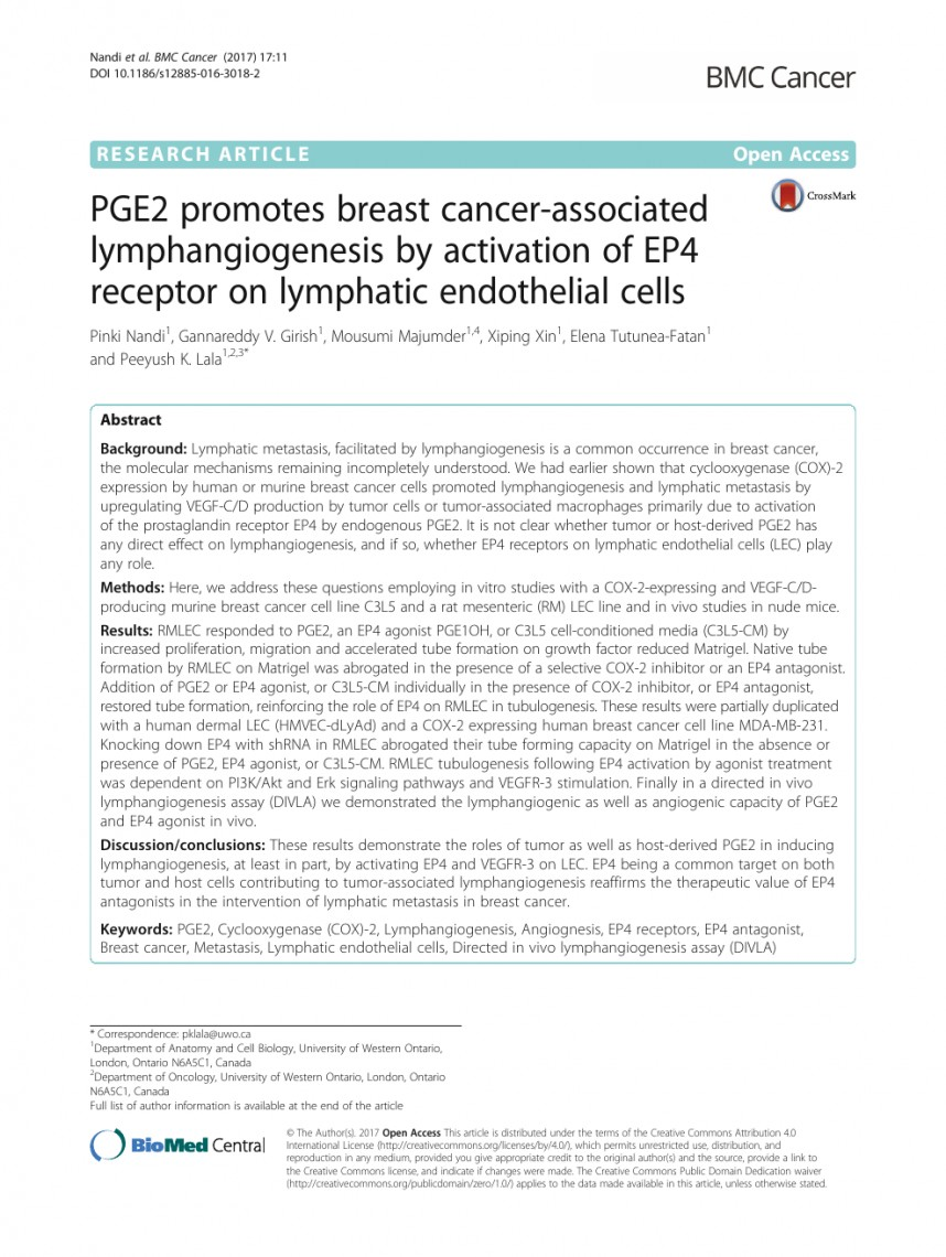 012 Research Paper Breast Cancer Topics Surprising