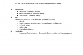 012 Research Paper Childhood Obesity Outline Marvelous