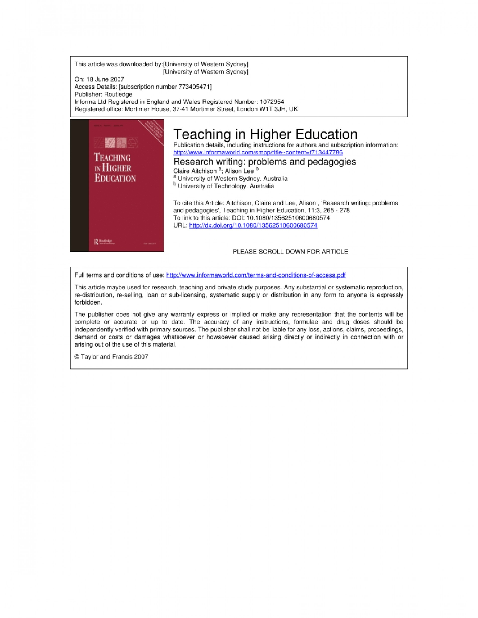 012 Research Paper Higher Education Pdf Amazing 1920