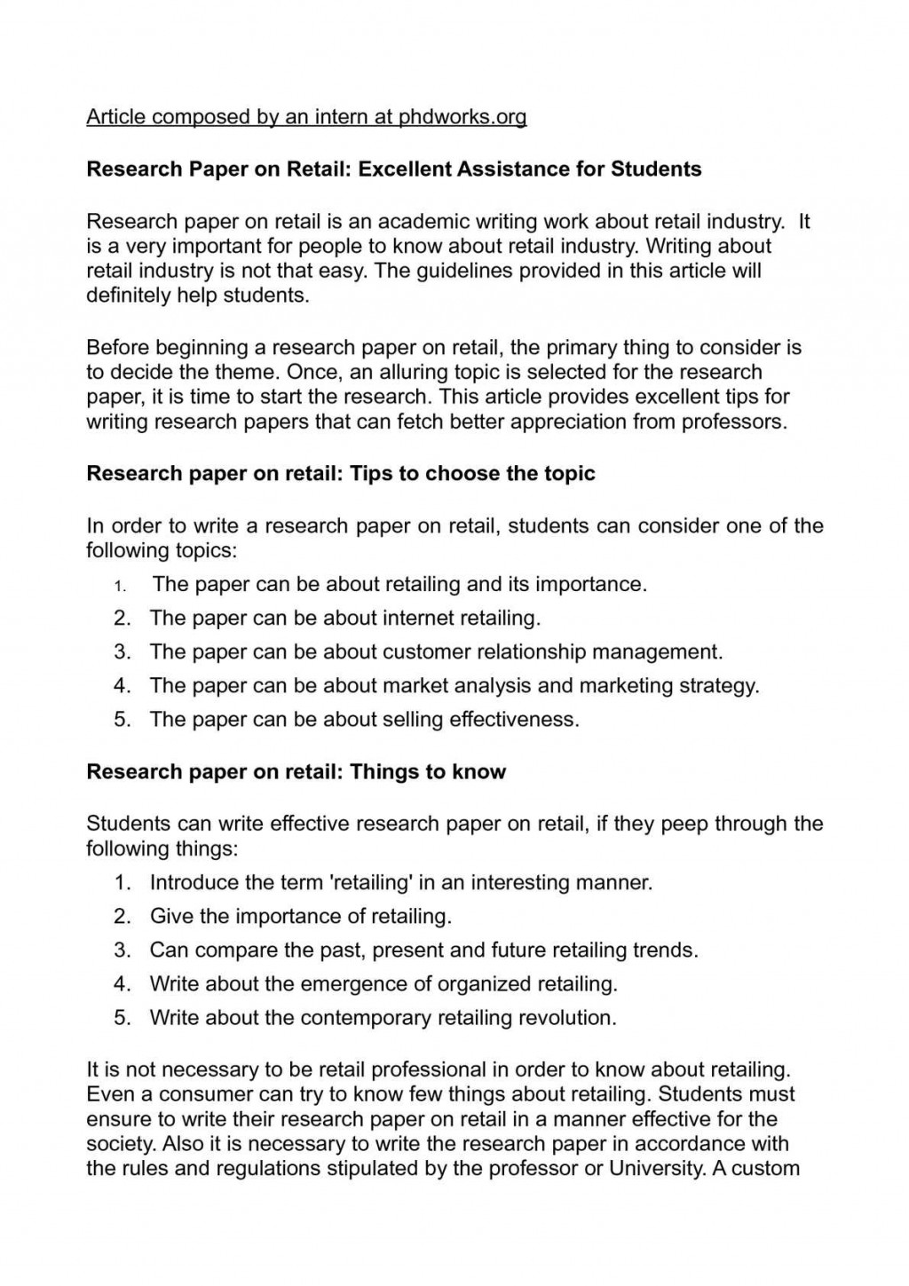 012 Research Paper How To Start The Beginning Of Unique A Discussion Section Write Body Apa Intro Example Large