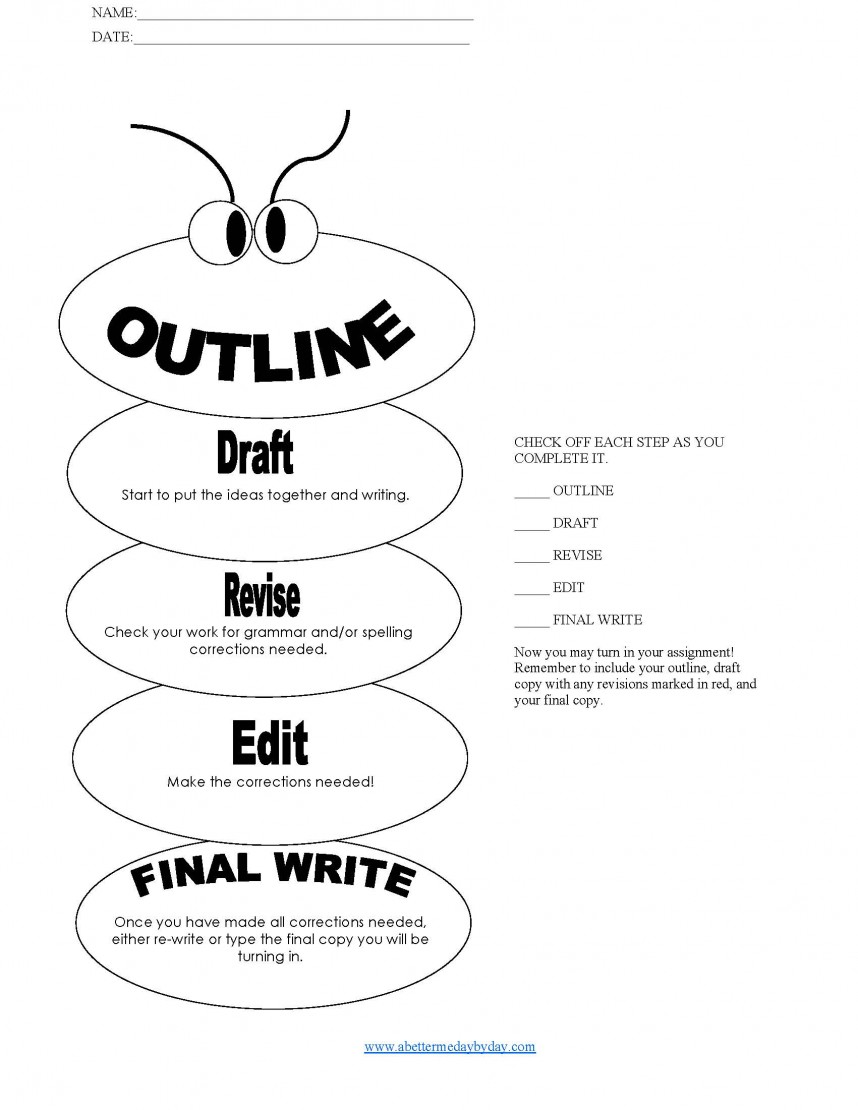 012 Research Paper Hs3 Simple Paragraph Essay Outline Worm Form With Writing Process Check List Page 1 Best Intro Introduction For