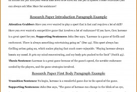 012 Research Paper Introduction For Term Sample Action Staggering Examples